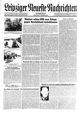 Leipziger neueste Nachrichten und Handelszeitung  vom 08.10.1944