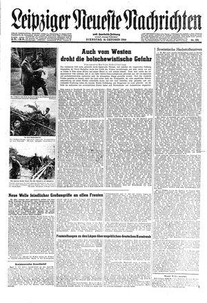 Leipziger neueste Nachrichten und Handelszeitung  vom 10.10.1944