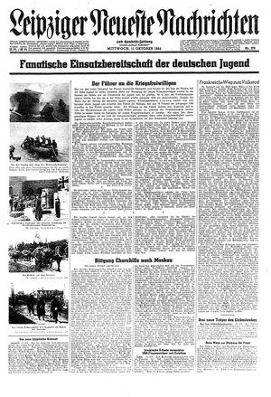 Leipziger neueste Nachrichten und Handelszeitung  on Oct 11, 1944
