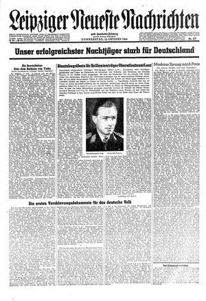 Leipziger neueste Nachrichten und Handelszeitung  vom 12.10.1944