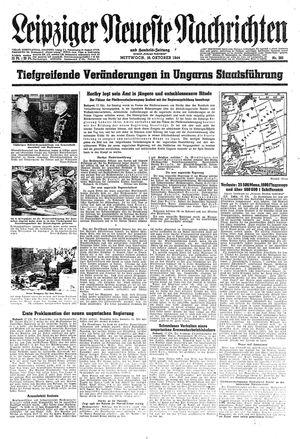 Leipziger neueste Nachrichten und Handelszeitung  vom 18.10.1944