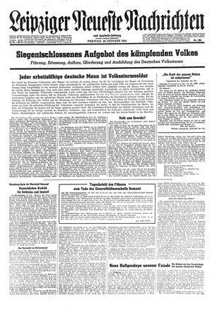 Leipziger neueste Nachrichten und Handelszeitung  vom 20.10.1944