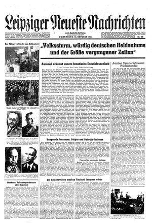 Leipziger neueste Nachrichten und Handelszeitung  vom 21.10.1944