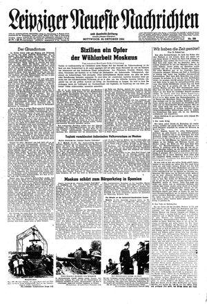 Leipziger neueste Nachrichten und Handelszeitung  vom 25.10.1944