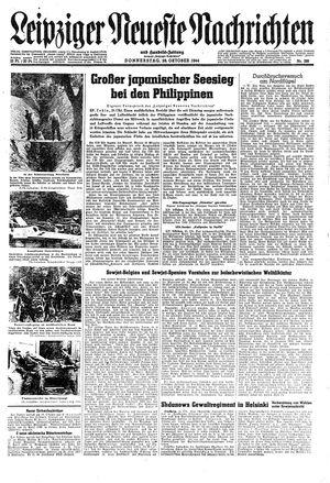 Leipziger neueste Nachrichten und Handelszeitung  vom 26.10.1944