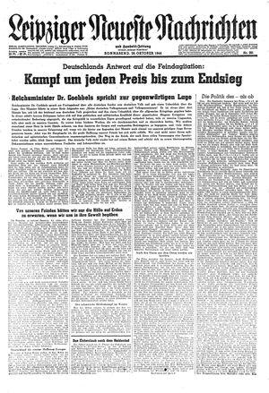Leipziger neueste Nachrichten und Handelszeitung  vom 28.10.1944