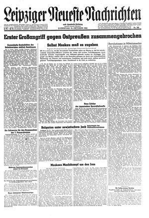 Leipziger neueste Nachrichten und Handelszeitung  on Oct 31, 1944