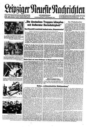 Leipziger neueste Nachrichten und Handelszeitung  vom 02.11.1944