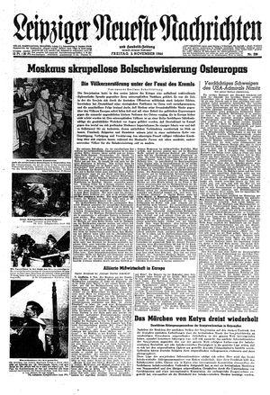 Leipziger neueste Nachrichten und Handelszeitung  vom 03.11.1944