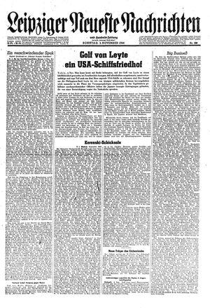 Leipziger neueste Nachrichten und Handelszeitung  vom 05.11.1944
