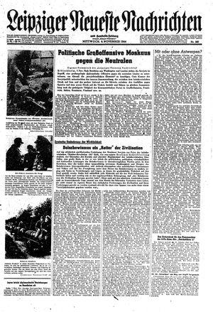 Leipziger neueste Nachrichten und Handelszeitung  vom 08.11.1944