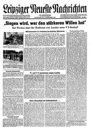 Leipziger neueste Nachrichten und Handelszeitung  vom 09.11.1944