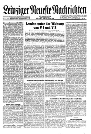 Leipziger neueste Nachrichten und Handelszeitung  vom 10.11.1944