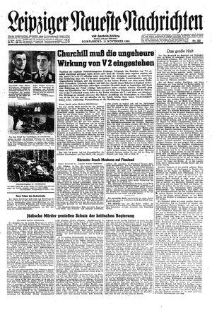 Leipziger neueste Nachrichten und Handelszeitung  on Nov 11, 1944