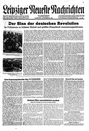 Leipziger neueste Nachrichten und Handelszeitung  vom 12.11.1944