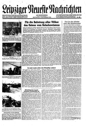 Leipziger neueste Nachrichten und Handelszeitung  vom 15.11.1944