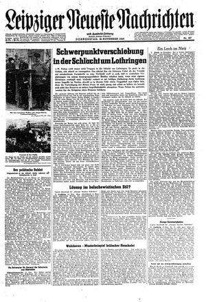 Leipziger neueste Nachrichten und Handelszeitung  on Nov 16, 1944