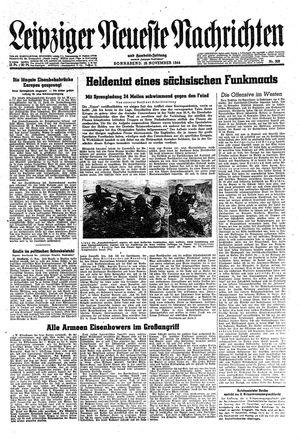 Leipziger neueste Nachrichten und Handelszeitung  vom 18.11.1944