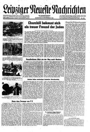 Leipziger neueste Nachrichten und Handelszeitung  vom 19.11.1944