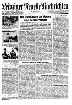 Leipziger neueste Nachrichten und Handelszeitung  on Nov 21, 1944