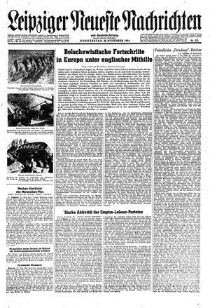 Leipziger neueste Nachrichten und Handelszeitung  vom 23.11.1944
