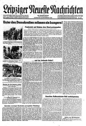 Leipziger neueste Nachrichten und Handelszeitung  vom 28.11.1944
