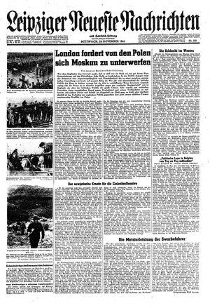 Leipziger neueste Nachrichten und Handelszeitung  vom 29.11.1944