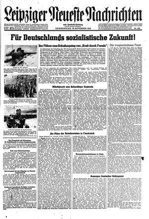 Leipziger neueste Nachrichten und Handelszeitung  vom 30.11.1944