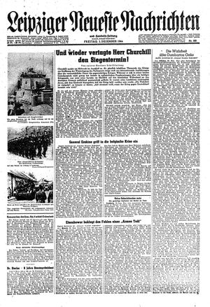 Leipziger neueste Nachrichten und Handelszeitung  vom 01.12.1944