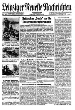 Leipziger neueste Nachrichten und Handelszeitung  vom 03.12.1944