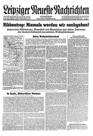 Leipziger neueste Nachrichten und Handelszeitung  on Dec 12, 1944