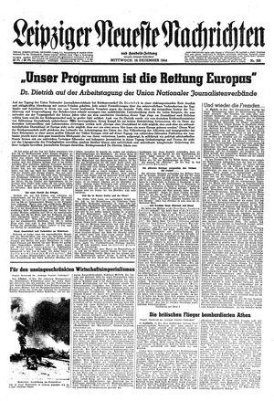 Leipziger neueste Nachrichten und Handelszeitung  vom 13.12.1944