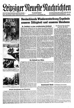 Leipziger neueste Nachrichten und Handelszeitung  vom 14.12.1944