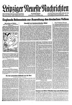 Leipziger neueste Nachrichten und Handelszeitung  vom 17.12.1944