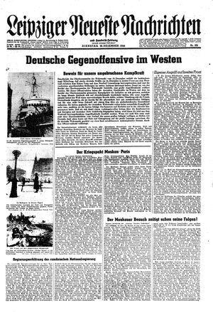 Leipziger neueste Nachrichten und Handelszeitung  vom 19.12.1944