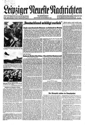 Leipziger neueste Nachrichten und Handelszeitung  vom 20.12.1944