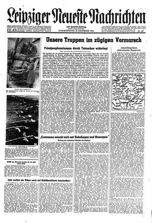 Leipziger neueste Nachrichten und Handelszeitung  vom 21.12.1944