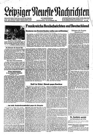 Leipziger neueste Nachrichten und Handelszeitung  vom 23.12.1944