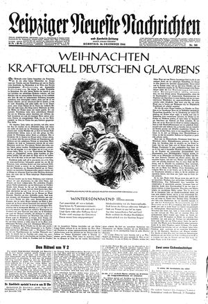 Leipziger neueste Nachrichten und Handelszeitung  vom 24.12.1944