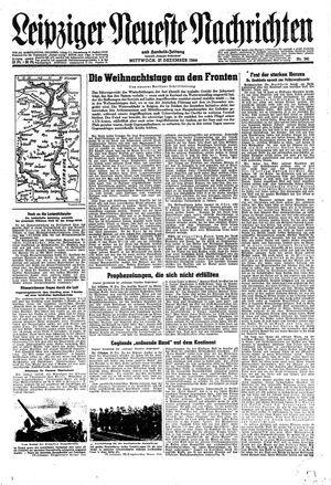 Leipziger neueste Nachrichten und Handelszeitung  vom 27.12.1944