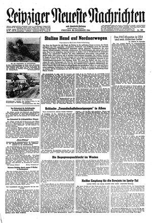 Leipziger neueste Nachrichten und Handelszeitung  vom 29.12.1944