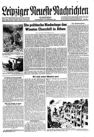 Leipziger neueste Nachrichten und Handelszeitung  vom 30.12.1944