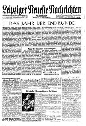 Leipziger neueste Nachrichten und Handelszeitung  vom 31.12.1944