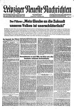 Leipziger neueste Nachrichten und Handelszeitung  vom 02.01.1945