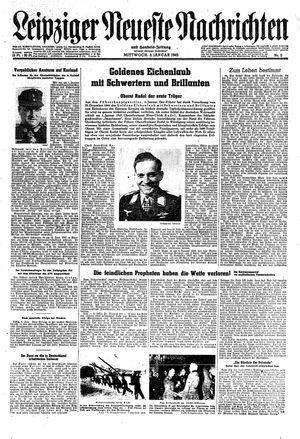 Leipziger neueste Nachrichten und Handelszeitung  vom 03.01.1945