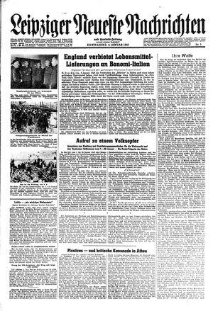 Leipziger neueste Nachrichten und Handelszeitung  vom 06.01.1945