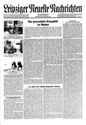 Leipziger neueste Nachrichten und Handelszeitung  vom 09.01.1945