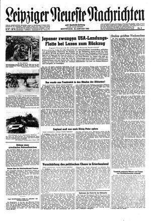 Leipziger neueste Nachrichten und Handelszeitung  vom 10.01.1945