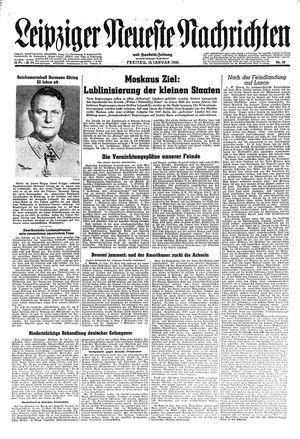 Leipziger neueste Nachrichten und Handelszeitung  vom 12.01.1945