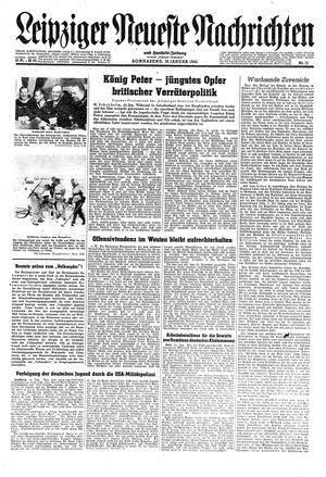 Leipziger neueste Nachrichten und Handelszeitung  vom 13.01.1945